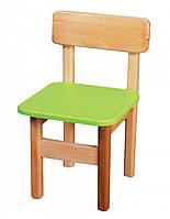Детский деревянный стульчик цветной салатовый