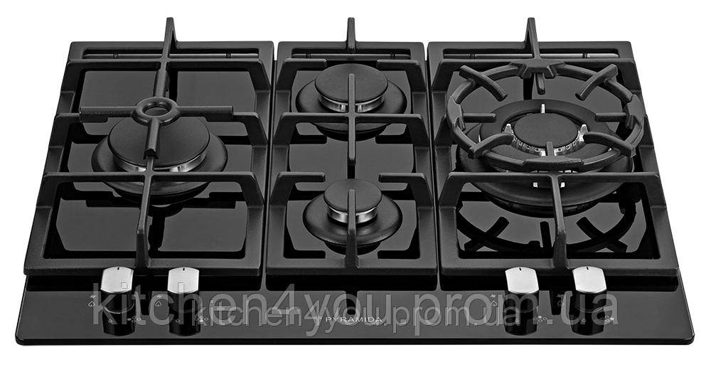 Pyramida PFG 640 black luxe (600 мм.) встраиваемая варочная поверхность, черное закаленное стекло