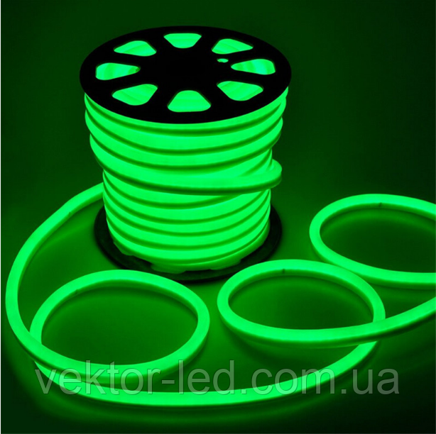 "Светодиодная лента 220В ""Dream light"" гибкий неон IP68 зеленая"