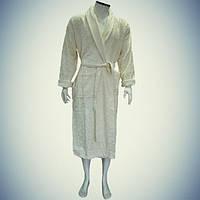 Мужской халат с воротником - хлопок - Турция
