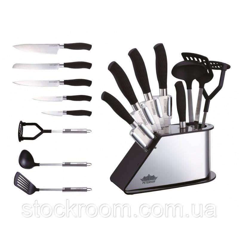 Набор ножей PETERHOF PH - 22382 с кухонными принадлежностями 2 в 1