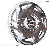 """Колпаки 16"""" для Fiat Doblo 2010-2014-..., нержавейка"""
