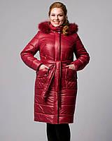 Женская зимняя куртка 48-56рр бордовый