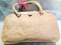 Саквояж  Haogi рептилия 7503 розовый