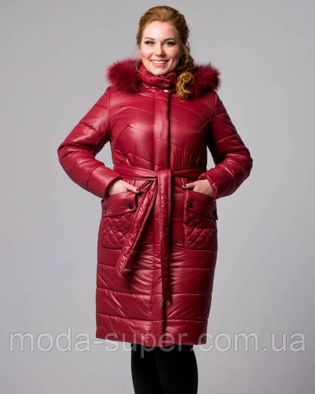 58260bb7514 Женская Зимняя Куртка с Мехом в Тон 48-58 Рр — в Категории