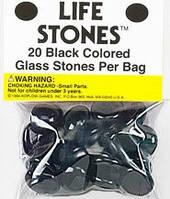 """Стеклянные каунтеры """"Камни жизни"""" (агат)  (Life Stones (black))"""