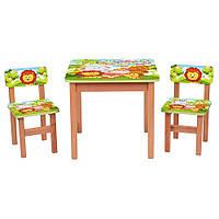 """Столик+2 стульчика """"Сафари"""" от Bambi"""