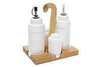 Набор для специй Naturel: 2 бутылочки для масла/уксуса, солонка, перечница