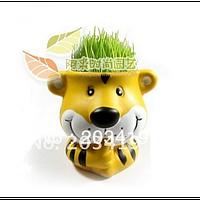 Керамический травянчик с семенами Тигр