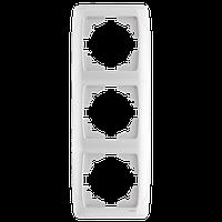 Рамка трехместная вертикальна белая Viko (Вико) Carmen (90571003)