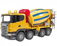 Игрушка Bruder Бетоновоз Scania R-series М1:16 желтый