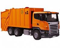 Игрушка Bruder Мусоровоз Scania R-R-series М1:16 оранжевый
