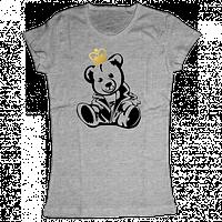 """Женская футболка с принтом """"Мишка"""""""