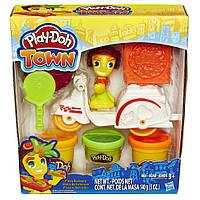 Плей-Дох игровой набор пластилина Город доставка пиццы Play-Doh B5976