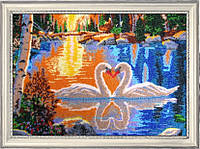 Набор для вышивки бисером Лебеди на закате 511