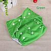 Подгузник многоразовый Qianquhui с флисом зеленый