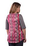 Свитшот теплый серый с шелковой спинкой  нарядный блуза женская кофточка, фото 3
