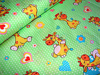Детское постельное белье Жирафики поплин