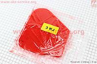 Фильтр-элемент воздушный красный поролон с пропиткой на скутер Yamaha JOG 3KJ