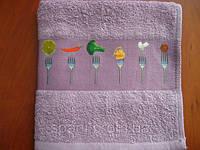 Полотенце махровое для кухни 40*60, Вилка, Пакистан