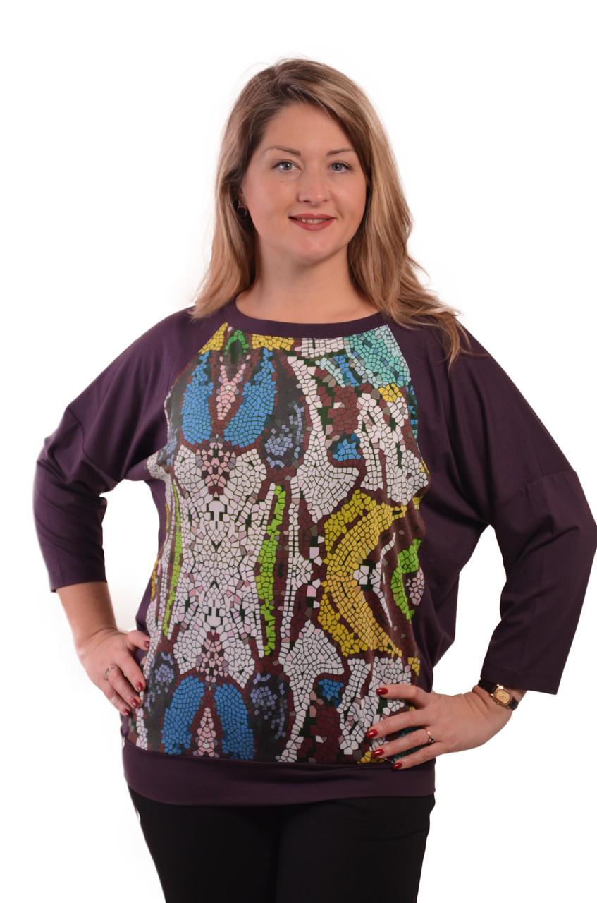 Свитшот кимано марсала женский на манжете блуза женская