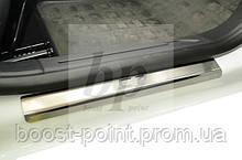 Защитные хром накладки на пороги Citroen С3 II (ситроен с3 2010+)