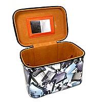 Шкатулка-бьютикейс для украшений и косметики с зеркалом Grey CR-110-MD (размер S)
