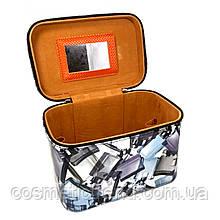 Шкатулка-бьютикейс для украшений и косметики с зеркалом Grey CR-110-MD (размер S 18*11*11 см)