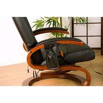 Массажное кресло + пуф с подогревом черное, фото 2