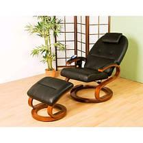 Массажное кресло + пуф с подогревом черное, фото 3