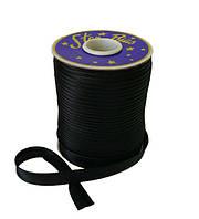 Косая бейка (атласная) - цвет черный