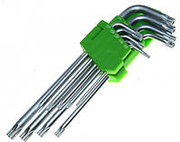 Alloid. Набор ключей изогнутых TORX. 7 пр. T10 -T40.