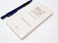 Чехол силиконовый ультратонкий для Samsung Galaxy Note Edge N915 прозрачный