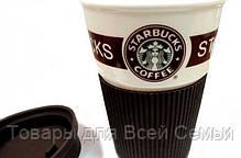 Стильный керамический стакан (чашка) Starbucks, фото 2