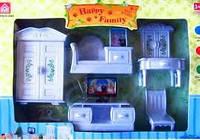 Набор белой мебели для гостиной с ТВ Happy family