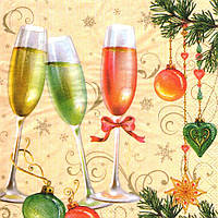 Салфетка для декупажа Новогоднее шампанское 6668