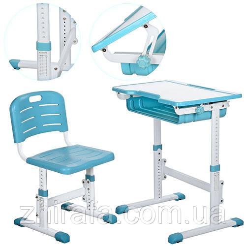 Детская ортопедическая  парта Bambi M 3230-4 голубая