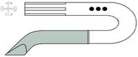 Дренаж профильный СЛАБИНСКОГО (БЛЕЙКА) с металлическим троакаром  Патент Украины № 17376 A