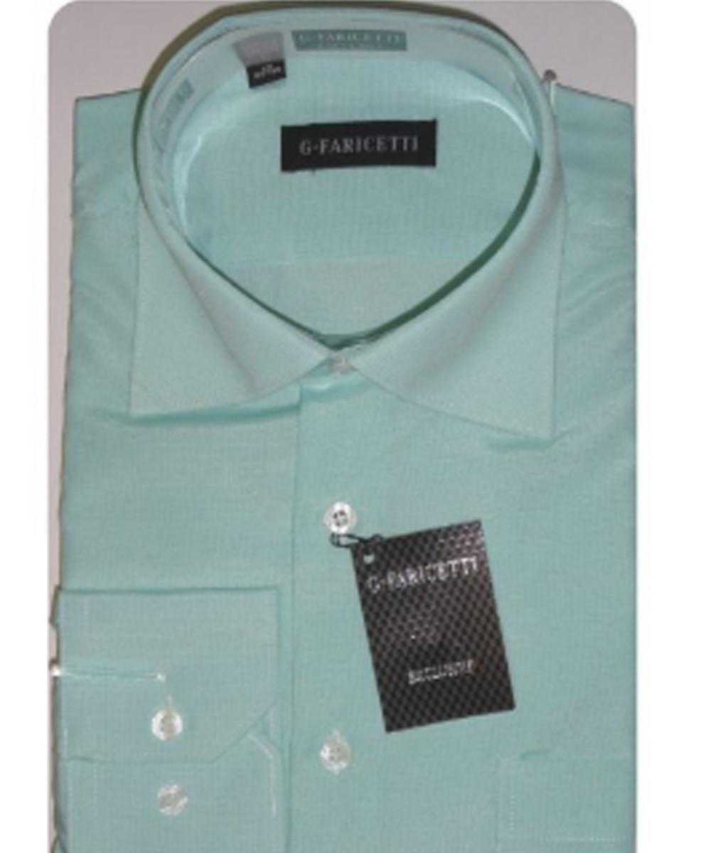 Рубашка мужская G-Faricetti 9506 мята