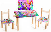 Набор детский стол и 2 стульчика Винкс