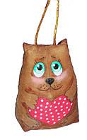 Кофейная игрушка Киса с сердечком