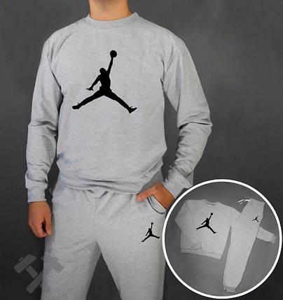 Спортивный костюм Jordan серый, фото 2