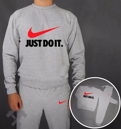 Спортивный костюм Nike серый с красным лого, фото 2
