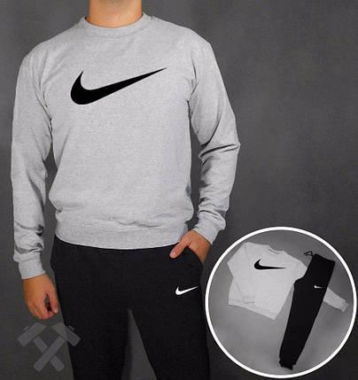 Спортивный костюм Nike с серым свитшотом и принтом, фото 2