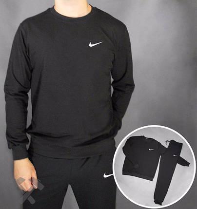 Спортивний костюм чорний Nike (мал. лого), фото 2