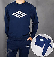 Спортивный костюм т.синий Umbro (белый больш. лого)