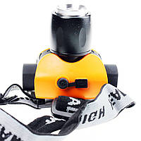 Налобный фонарик аккумуляторный с фокусом HP300LM, ручные фонари, налобные,комплектующее, фонари police