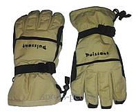 Перчатки горнолыжные Puissant, L, светло-коричневый цвет.