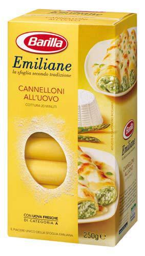 Макароны трубки Barilla Emiliane «Cannelloni» для фаршировки 250 гр.