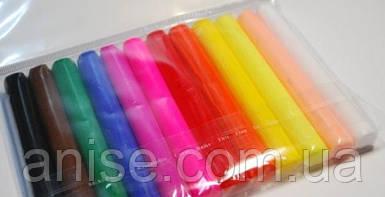 Полимерная глина Пластишка Набор 12 цвета